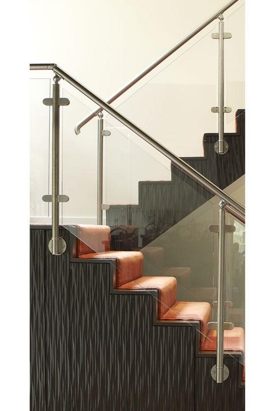 #楼梯 #台阶 #玻璃栏杆