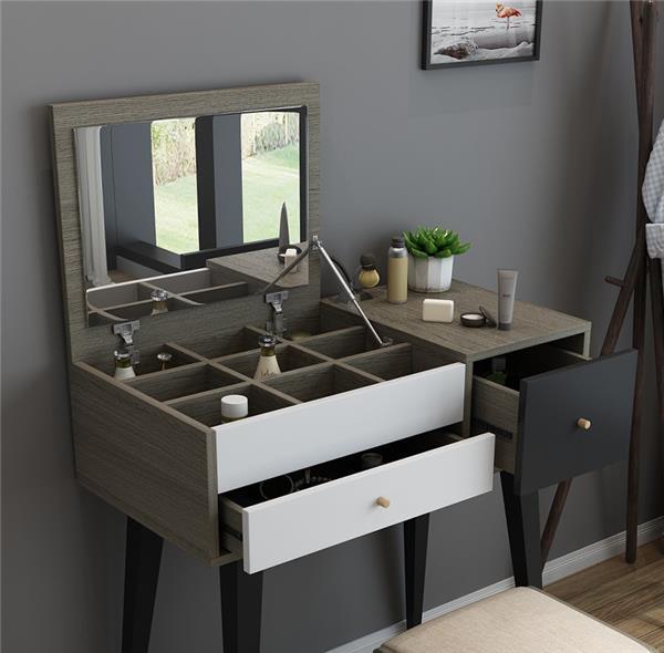 北欧翻盖梳妆台卧室现代简约多功能化妆台小户型迷你经济型化妆桌