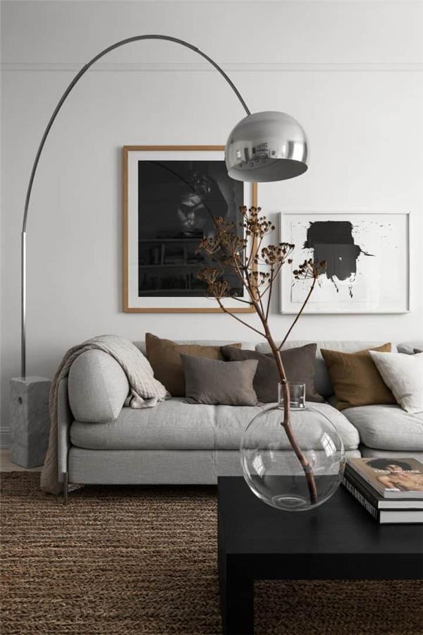 柔软单色公寓装饰