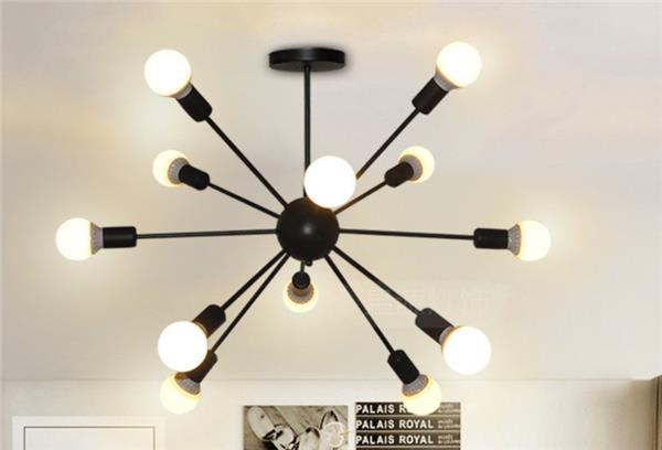 雾隐门   工业风吊灯创意个性店铺北欧餐厅灯客厅服装店灯具铁艺loft蜘蛛灯