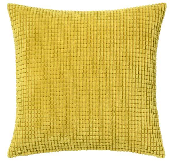 GULLKLOCKA 古洛卡 垫套, 黄色, 50x50 厘米#抱枕