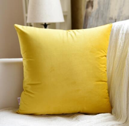米乐 柔软丝滑绒面沙发抱枕欧式大靠垫床头靠枕办公室腰枕汽车靠背枕头#抱枕