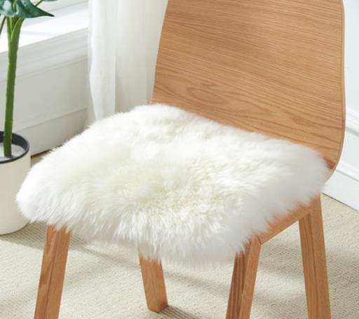 澳尊  纯羊毛椅垫加厚冬季坐垫保暖羊毛沙发垫毛毛垫羊皮办公椅子垫#坐垫