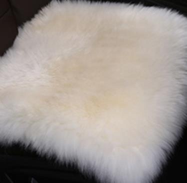 南极人(Nanjiren)真羊毛皮毛一体小方垫#坐垫