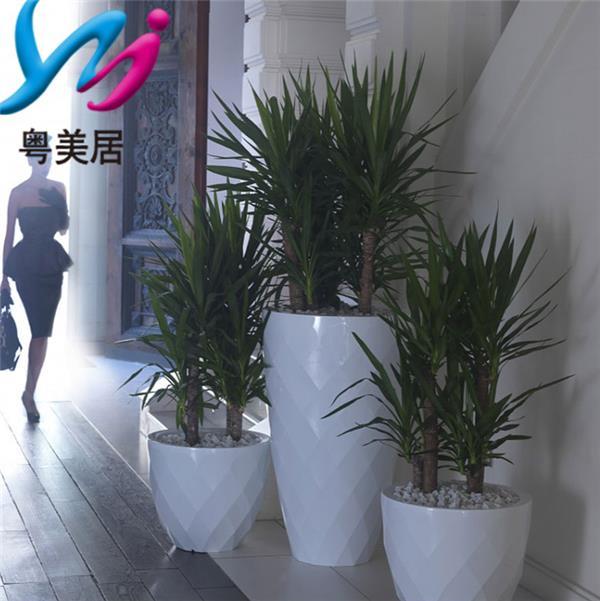 玻璃钢花盆商业街落地花器商场美陈摆件室内外花钵菠萝造型大花瓶#花盆