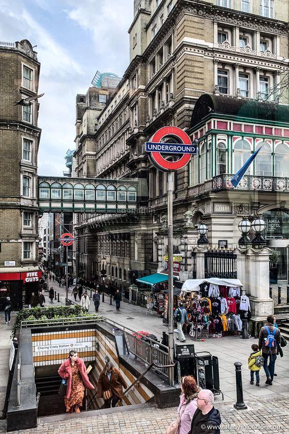 伦敦街景:地铁
