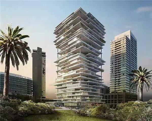 黎巴嫩高层公寓#住宅外立面 #多层立面 #阳台