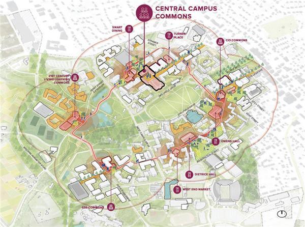 弗吉尼亚理工大学景观改造