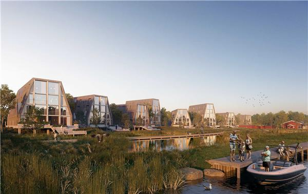 竞赛一等奖 / 我们的河滨小镇#郊区化住宅 #住宅规划 #郊区住宅