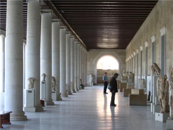 雅典阿塔洛斯广场重建的城堡