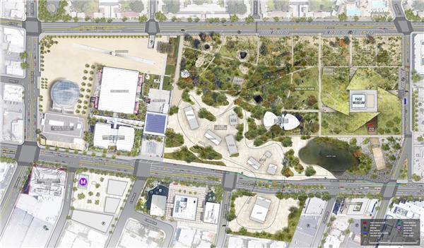 洛杉矶拉布雷亚沥青坑设计竞赛(方案2)
