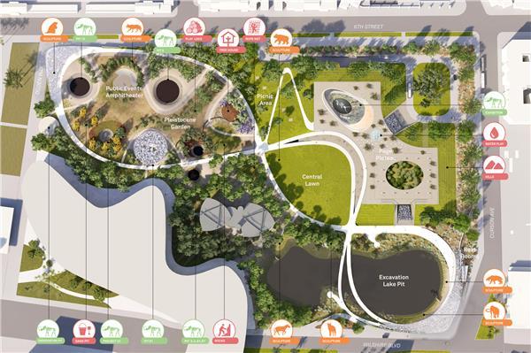 洛杉矶拉布雷亚沥青坑设计竞赛(方案1)