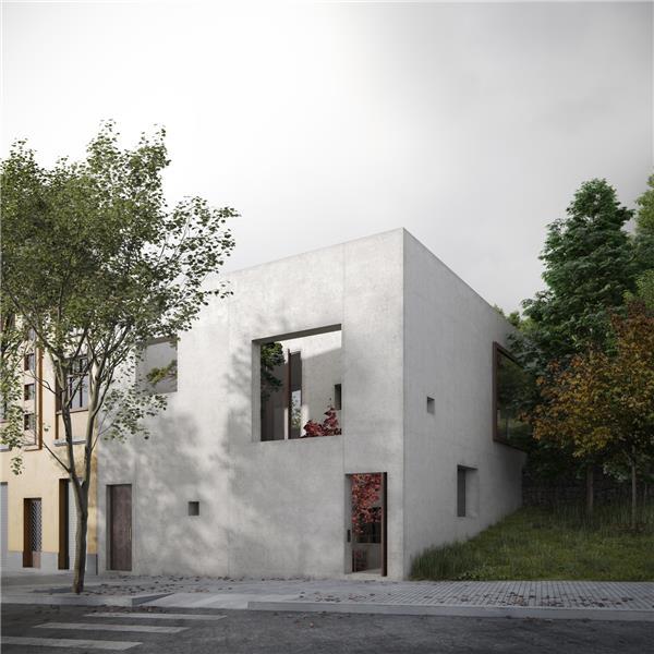 Maisons Stationnaires方块住宅 西班牙 巴塞罗那