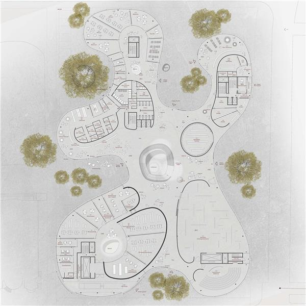 柏林国立美术馆新馆设计竞赛(方案3)_3534654