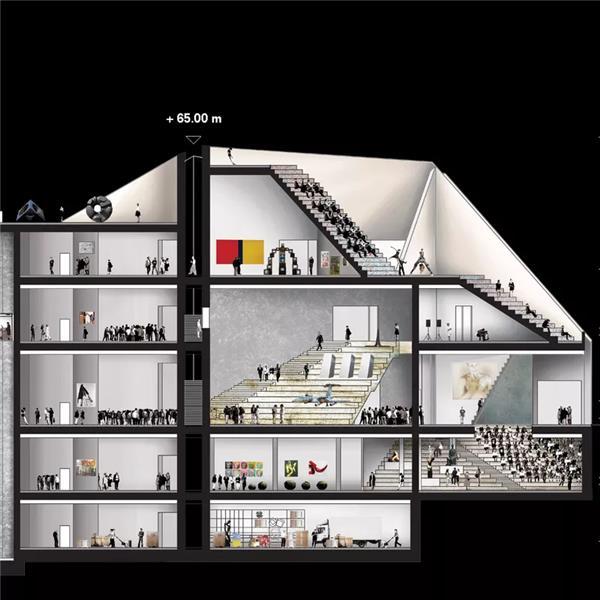 柏林国立美术馆新馆设计竞赛(方案1)