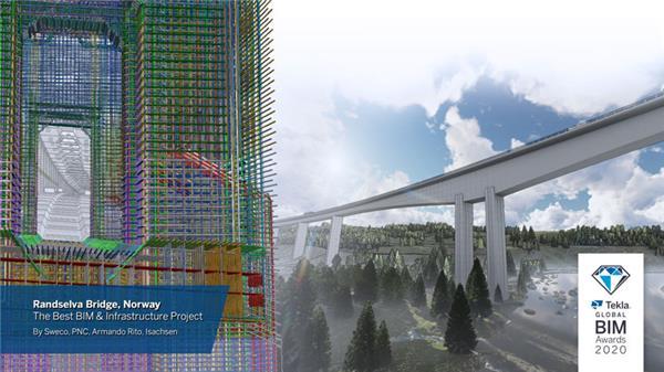 最佳BIM项目和最佳基础设施项目:挪威兰塞尔瓦大桥
