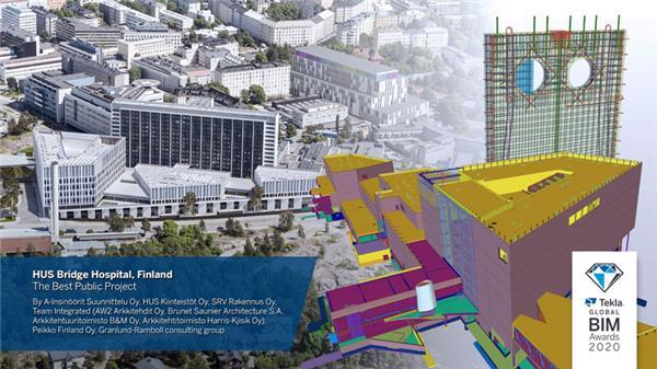 最佳公共项目:芬兰赫尔辛基大学医院(HUS)桥梁医院