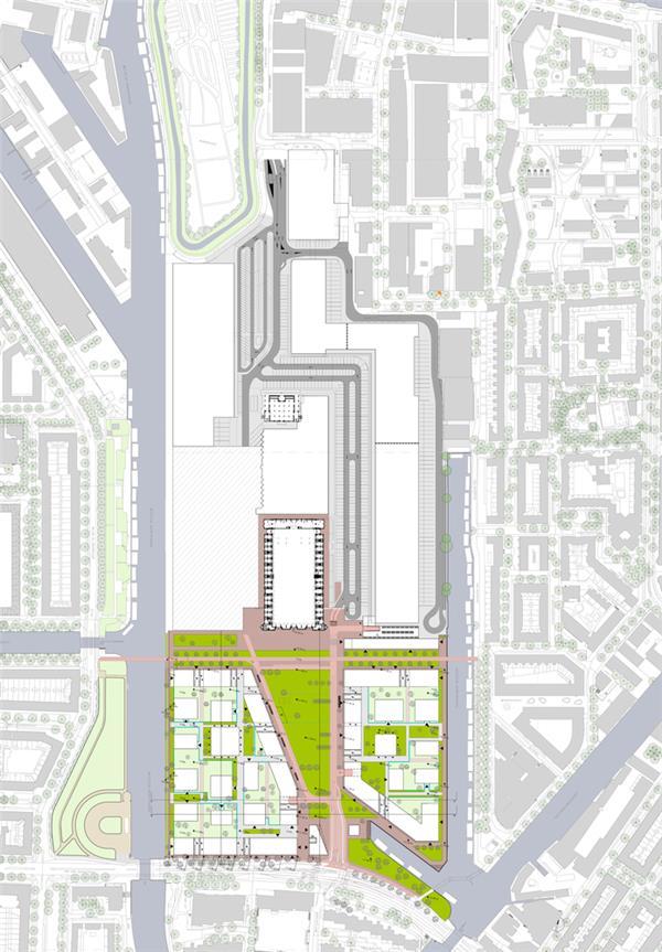 Mecanoo公布'Marktkwartier社区'总体规划,旧食品市场更新