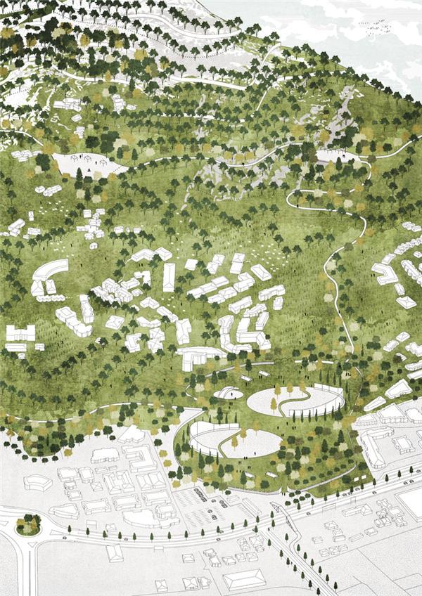 博埃里事务所为地拉那市总规划设计垂直森林
