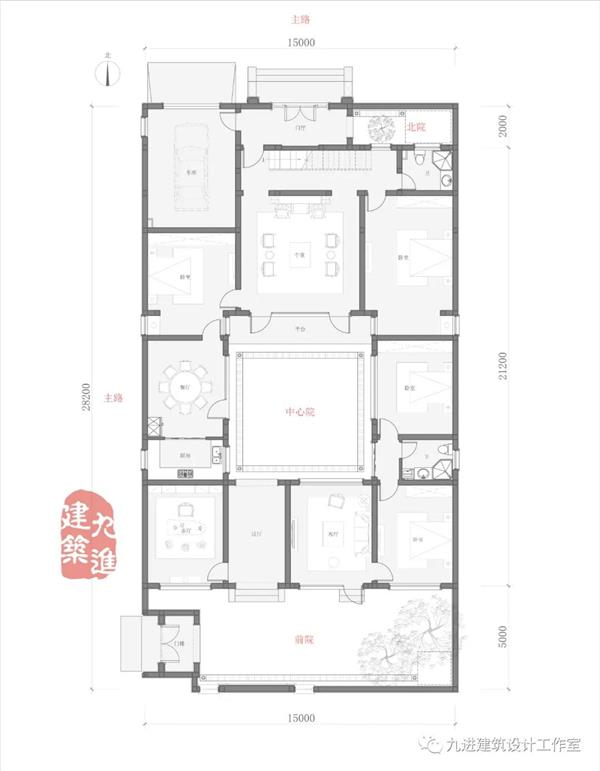 内和外避、宁静祥和的合院式新民宅【菏泽民宅】