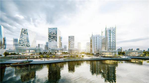 UUA建筑设计作品  兰花阁 | '城市山谷'中的滨河商街