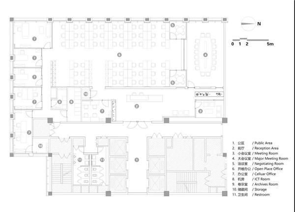 UUA建筑设计作品  UNI-INTEL办公室丨模块化营造线性空间