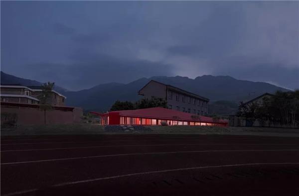 郦文曦建筑设计  新作   地平线上的红色音符