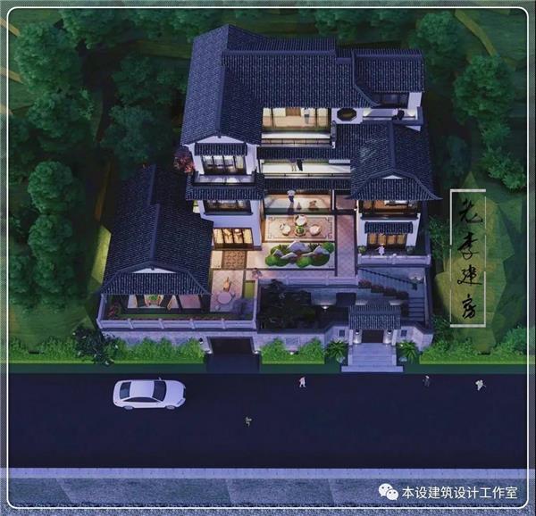 本设建筑设计作品  万里挑一的优雅大宅,绝对是你建房的最佳选择,贵精不贵丽,方成大雅