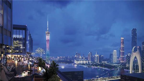 """由 10 Design 设计的 """"琶洲客厅"""" 空中连廊升座成功,为广州城市地标增添新名片"""