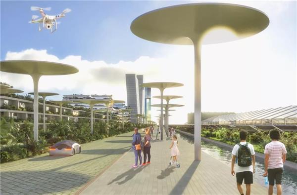 博埃里建筑设计事务所森林城市项目——墨西哥首座智慧森林城市