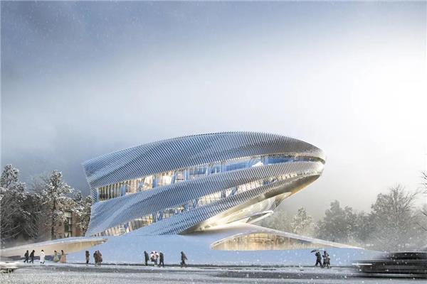 10 Design 揭晓韩国松岛国际图书馆竞赛方案,设计充满未来感的图书馆