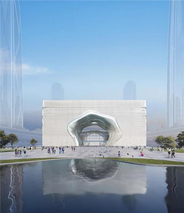 大杭州重磅新地标云门亮相!这是一场诗意与未来的美丽邂逅#艺术景观门 #景观门 #地标