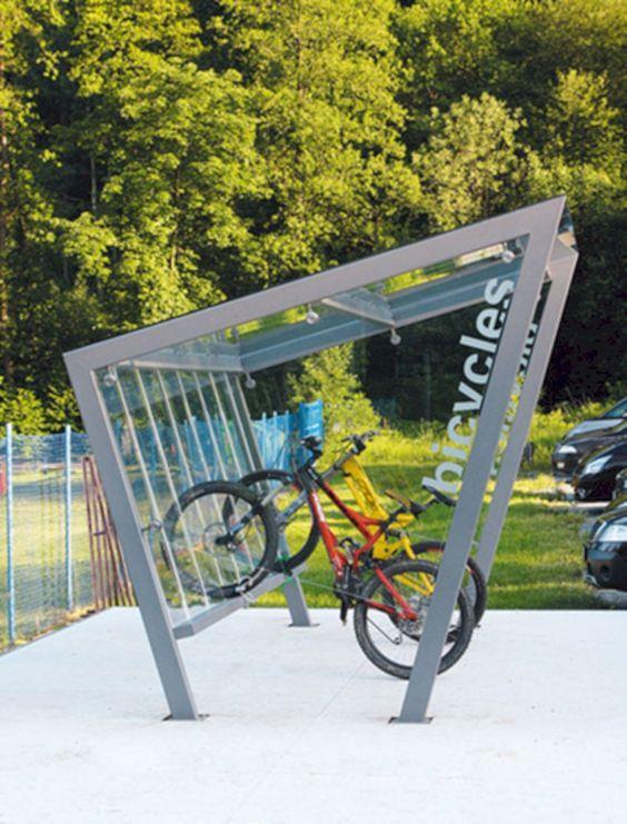 #小公园 #自行车架 #自行车