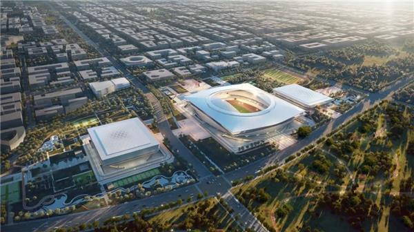 """雄安新区启动区体育中心,方案以""""山水·印章""""为理念#古典建筑意向 #体育中心 #河北"""