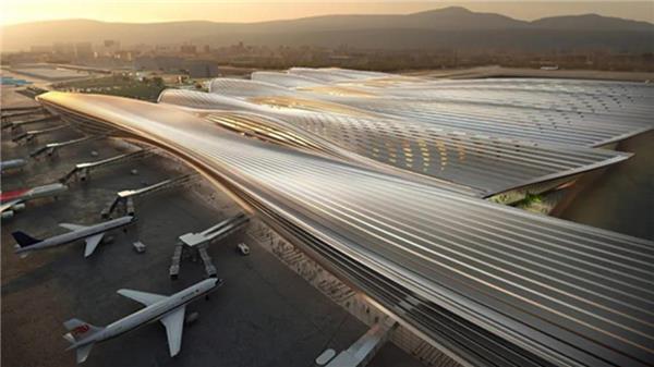 """罗杰斯以""""自然环境为核心""""设计深圳机场航站楼#机场 #深圳机场 #机场航站楼"""