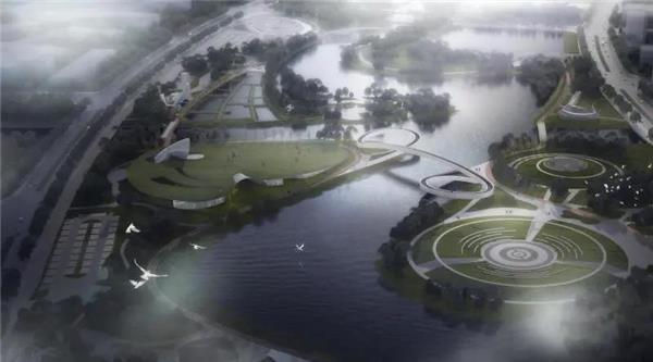 """鸟巢团队参与上海最大海绵公园,""""星空之境""""开园。#上海 #海绵公园 #星空之境"""