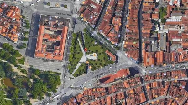 城市设计案例:三角地块的城市广场更新#广场设计 #三角形广场设计 #广场