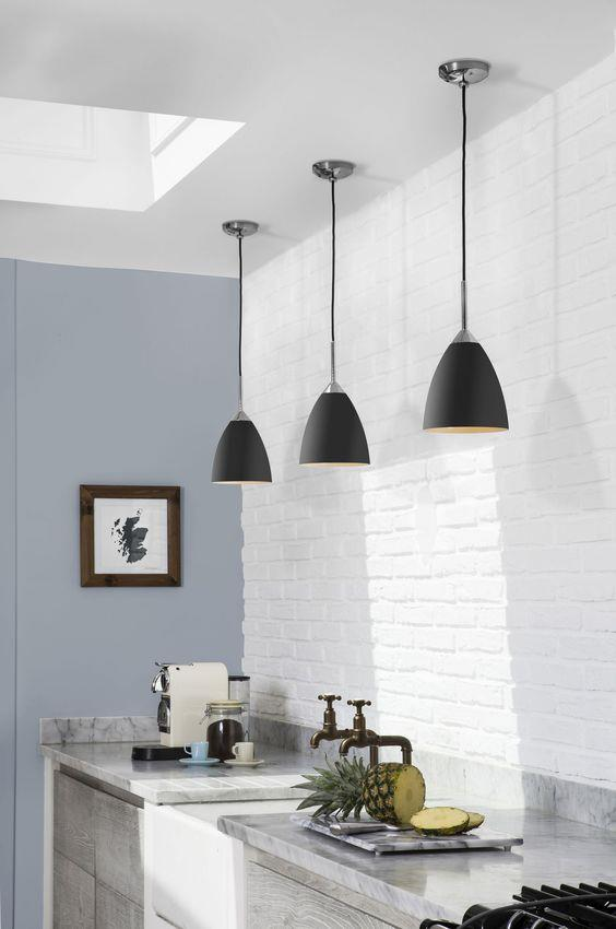 现代简约厨房灯具装修装饰#室内设计 #置物架 #橱柜