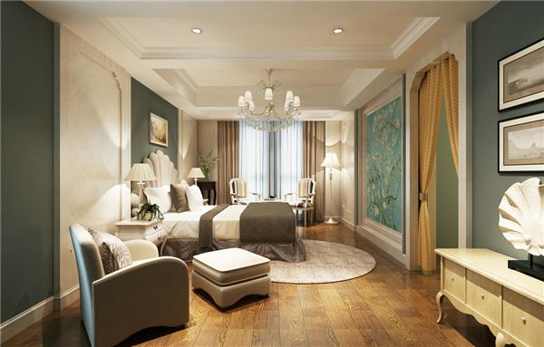 田园卧室 3D模型 下载_417689