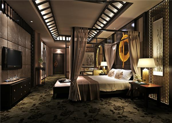 东南亚 卧室3D模型 下载