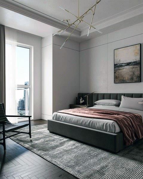 199个装修风格各异的大型卧室设计灵感_421236