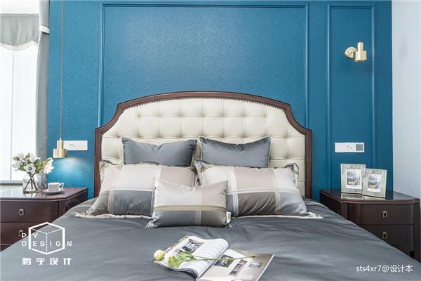 190㎡轻奢美式卧室设计