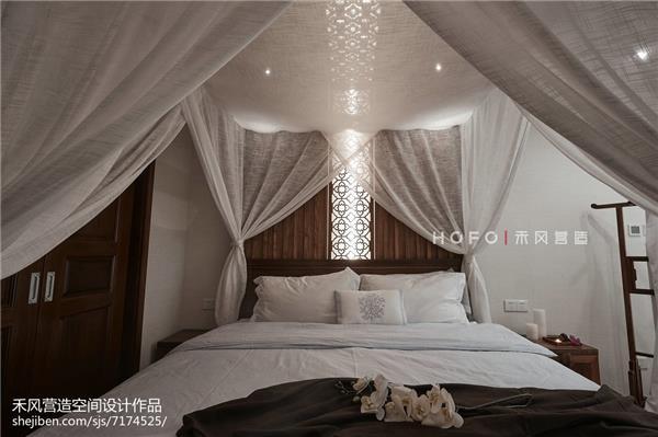 221㎡东南亚卧室设计图