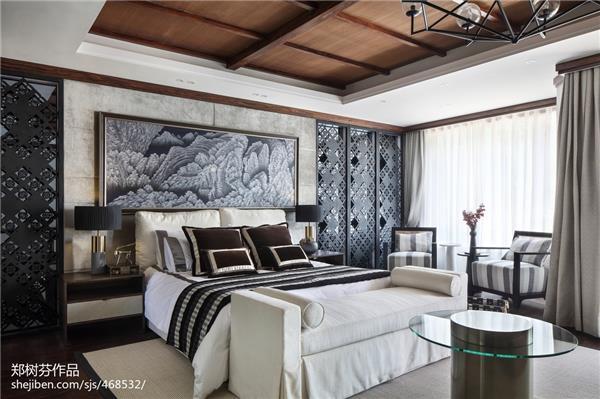 东南亚风格豪宅卧室设计效果图_418399