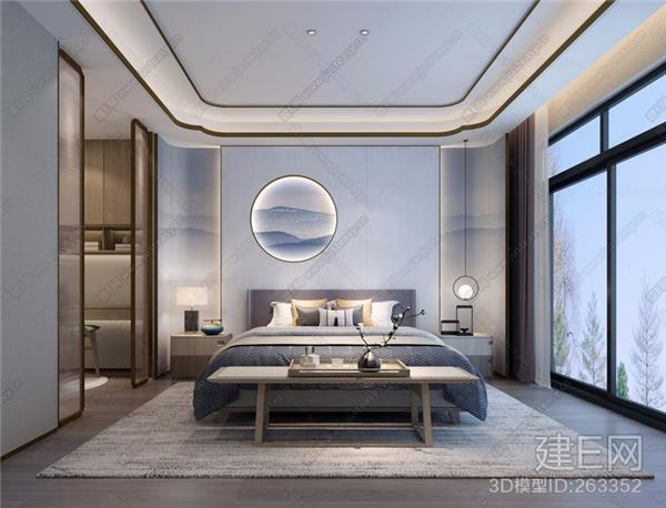 新中式禅意卧室_418586