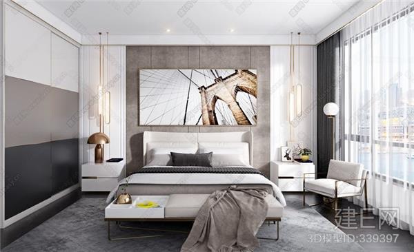 现代卧室_418598
