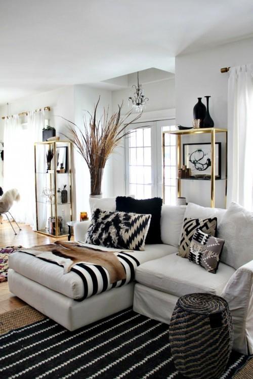 黑白风格客厅的48个想法_440062