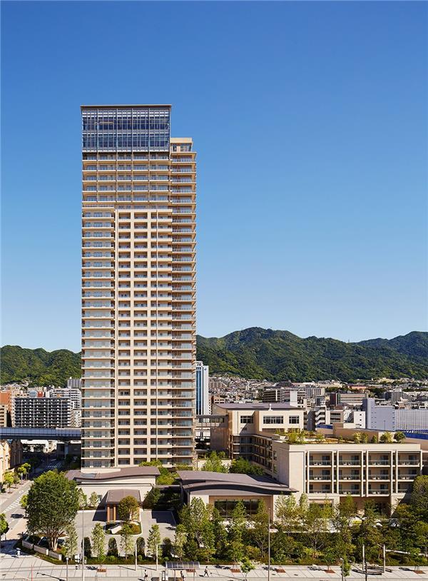 神户太阳城公寓大楼,日本 / Richard Beard Architects