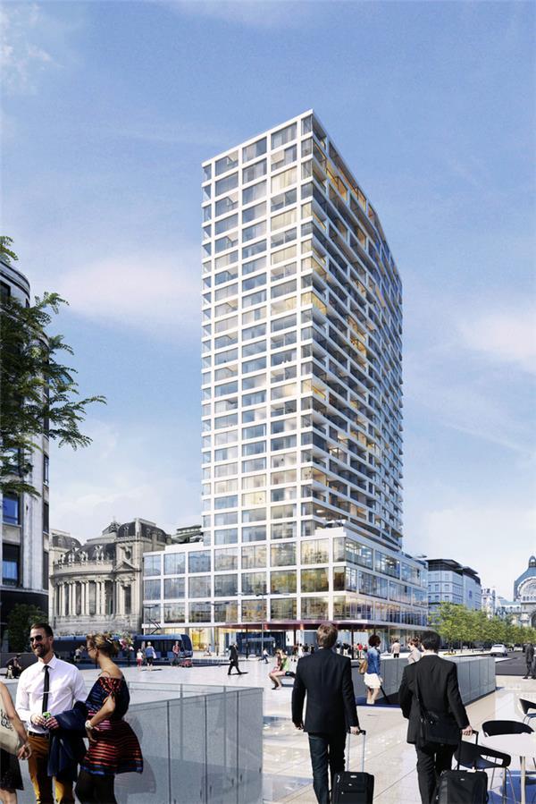 高层建筑还可以更高,WAA 对安特卫普塔改造将会成为比利时第三高!