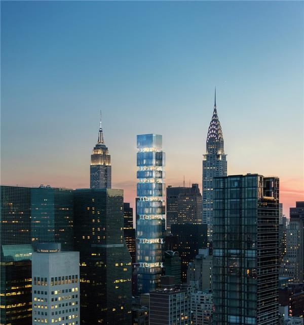 ODA位于曼哈顿的塔楼设计让住户在空中感到了郊野的氛围